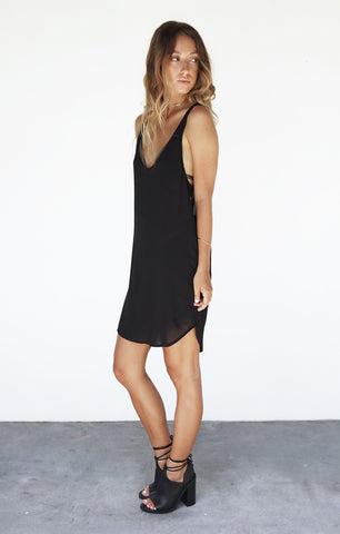 THE LOW BACK DRESS - BLACK