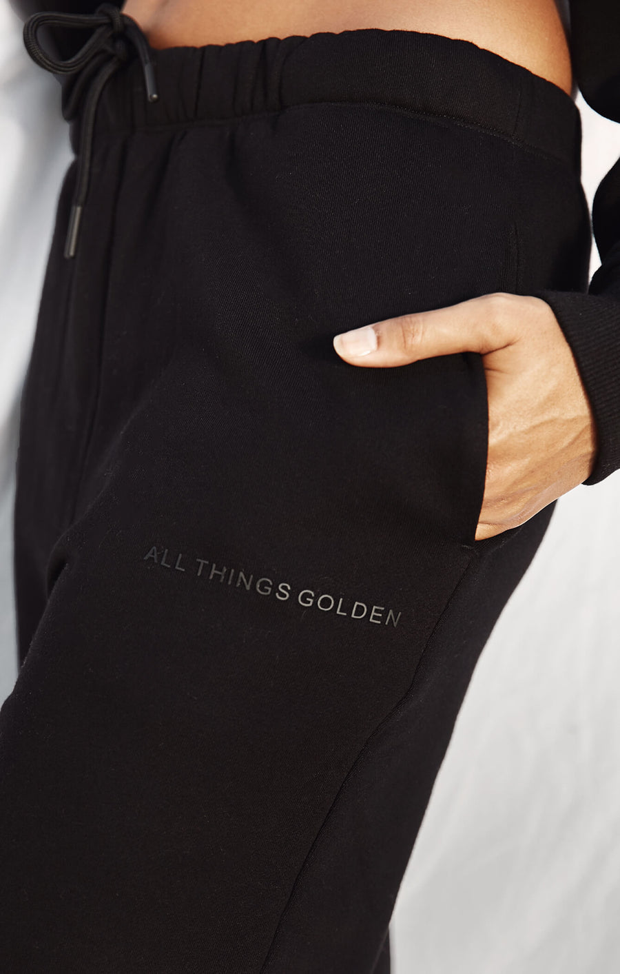 THE A.T.G TRACK PANTS - BLACK