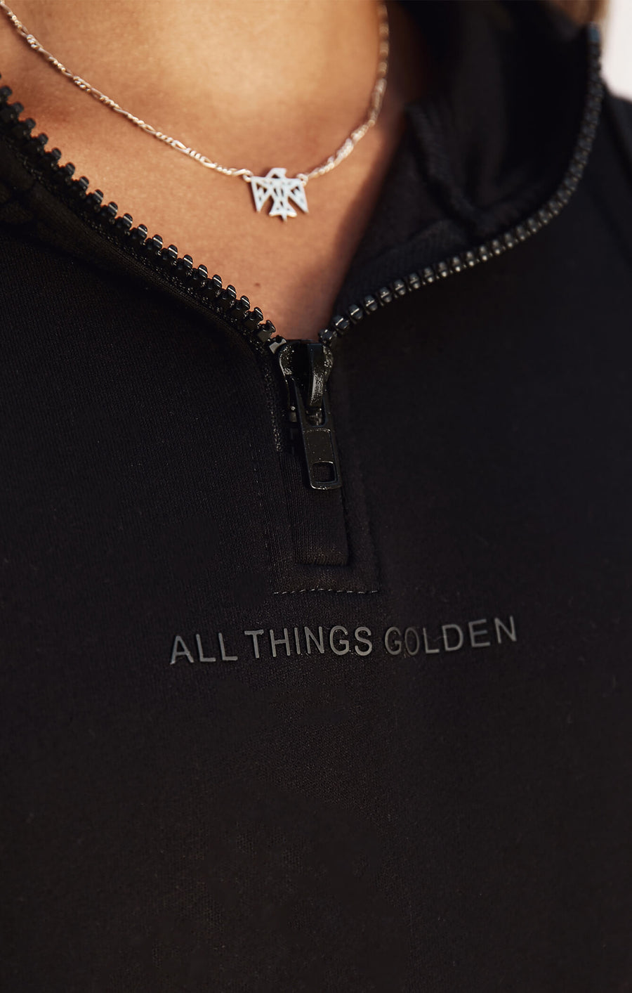 THE A.T.G ZIP HOODIE - BLACK