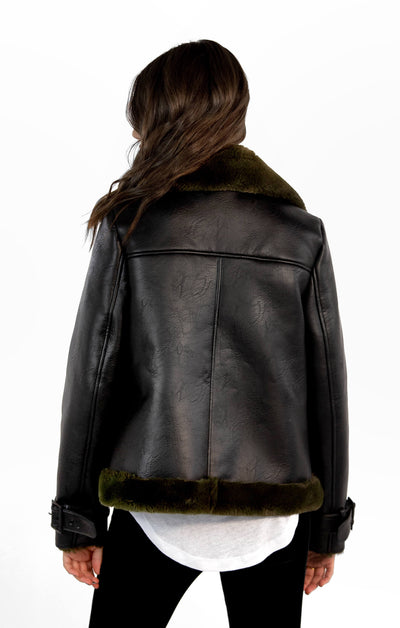 THE VEGAN LEATHER MOTO JACKET