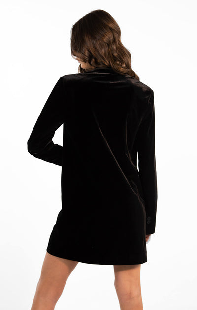 THE VELVET BLAZER DRESS