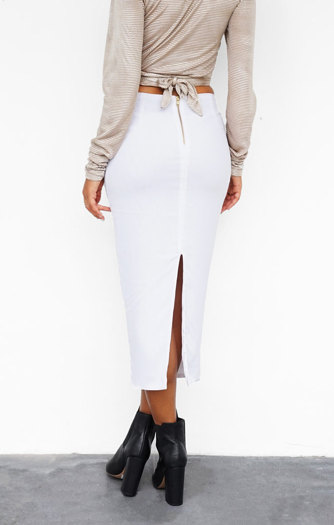 THE CLASSIC SKIRT - WHITE