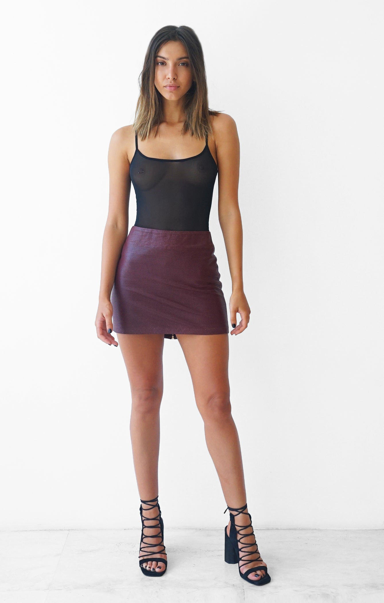THE GO TO LEATHER MINI - PLUM