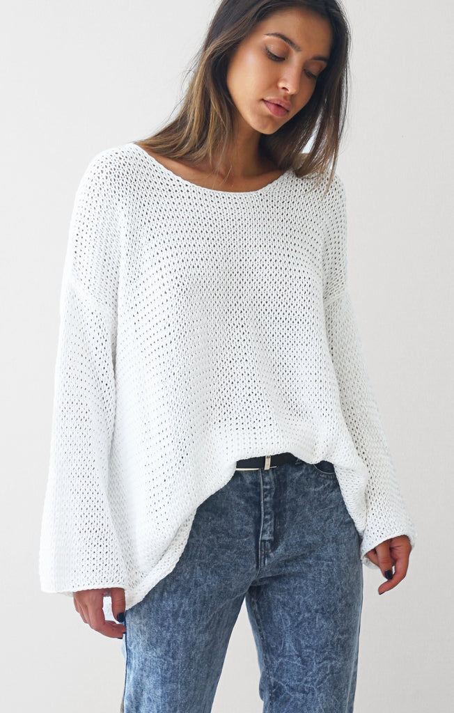 THE EVERYDAY CHUNKY KNIT - WHITE