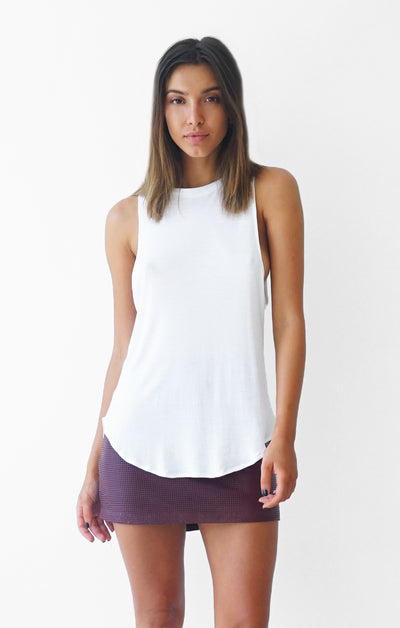 THE HIGH NECK TANK - WHITE