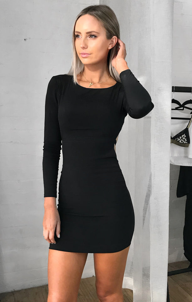 THE LATE NIGHT DRESS - BLACK