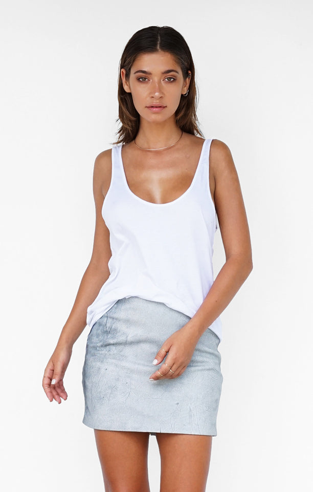 THE EXTENDED ESSENTIAL TANK - WHITE