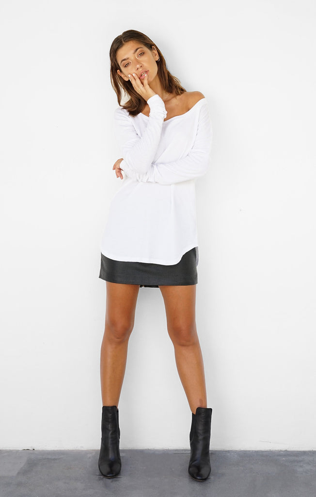 THE LAYERED LONG SLEEVE - WHITE