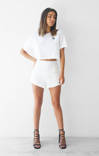 THE LUXE SHORTS - WHITE