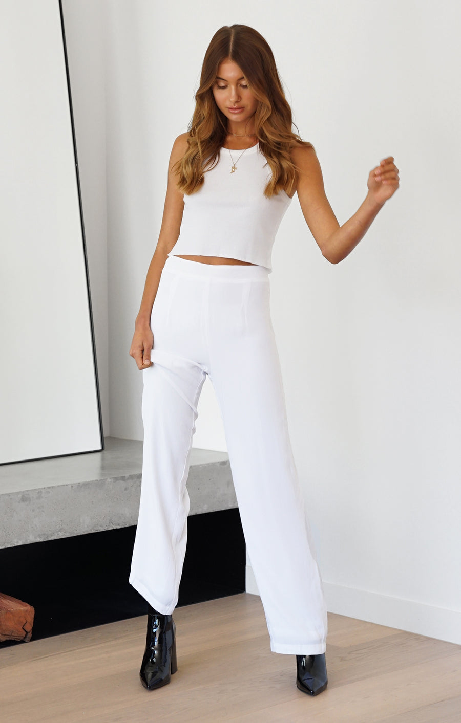 THE LUXE PANTS - WHITE