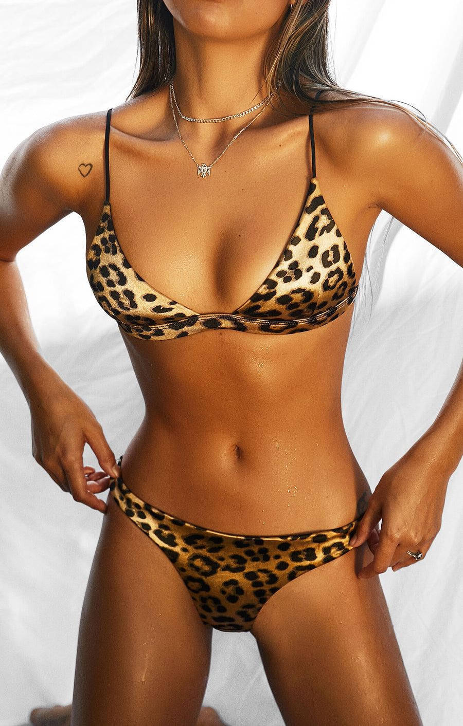 THE TRIANGLE TOP - LEOPARD