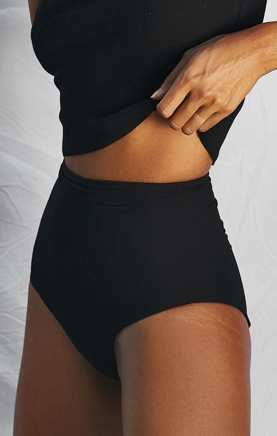 THE BASIC MESH BLOOMERS - BLACK