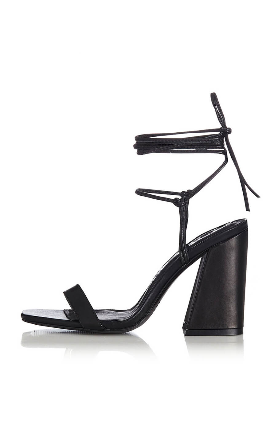 THE WILLA HEEL - BLACK