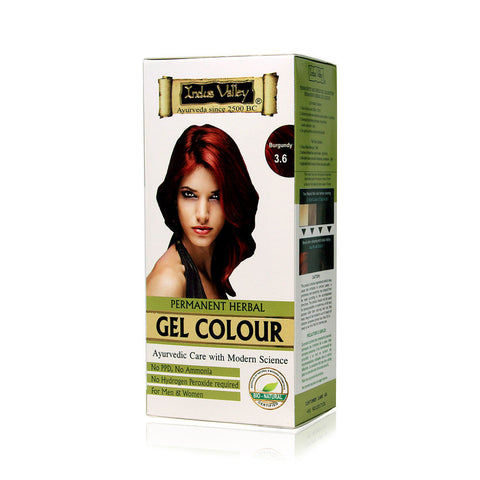 Indus Valley Permanent Herbal Colour- Burgundy Kit - 180 gm