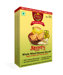 Early Foods Organic Banana Jaggery Rusk 150g