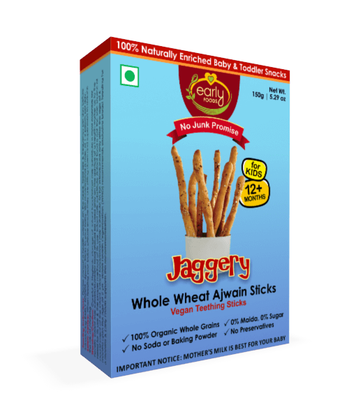 Early Foods Organic Ajwain Jaggery Teething Sticks 150g