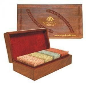Organic India Super Deluxe Wooden Gift Box 100 Tea Bags