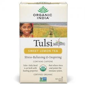 Organic India Tulsi Sweet Lemon Tea (18 Tea Bags)