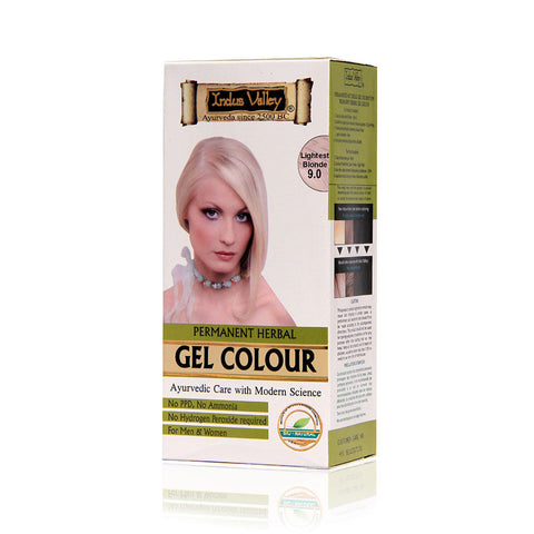 Indus Valley Permanent Herbal Colour- Lightest Blonde Kit - 180 gm