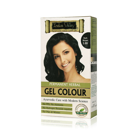 Indus Valley Permanent Herbal Colour- Dark Brown One Time Use