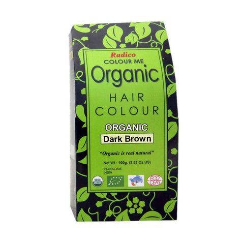 Radico Colour Me Organic Dark Brown Hair Colour - 100gm