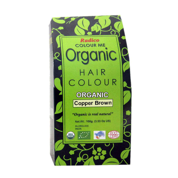 Radico Colour Me Organic Copper Brown Hair Colour - 100gm