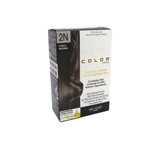 Aequo Color Sable Brown Organic Hair Colour Kit - 160ml