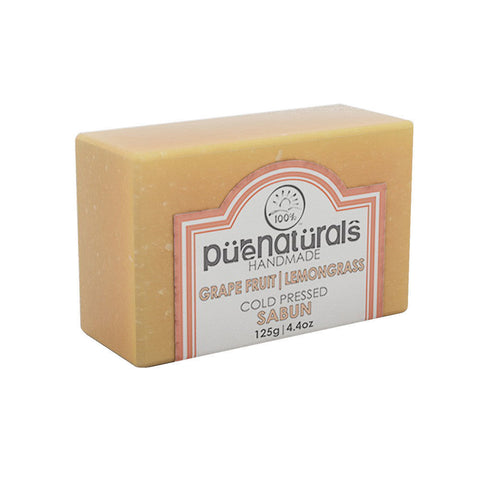 Purenaturals Hand Made Soap Grape Fruit| Lemongrass - 125g (Set of 4)