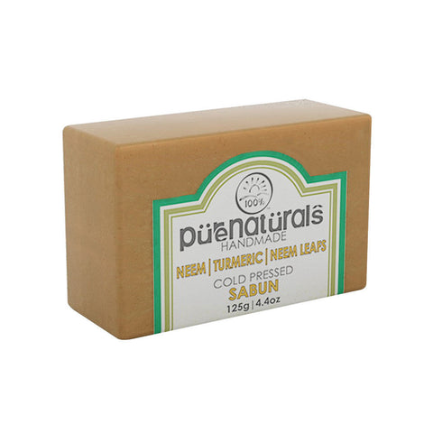 Purenaturals Hand Made Soap Neem| Turmeric| Neem Leafs - 125g (Set of 4)
