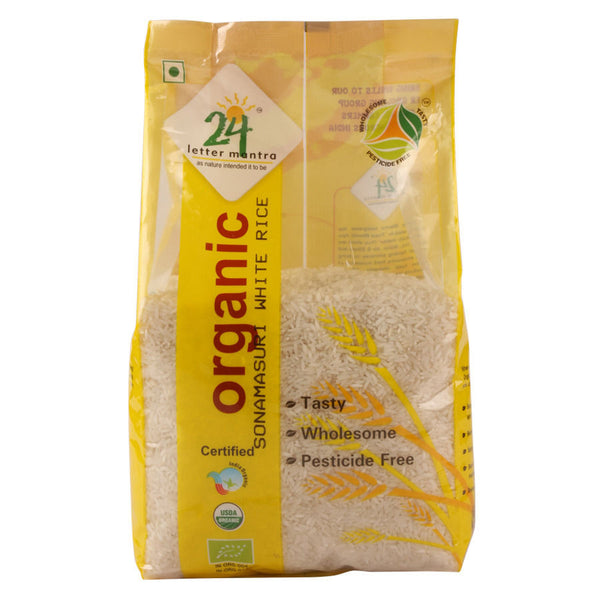 24 Letter Mantra Sonamasuri Raw Rice Polished, 1 kg