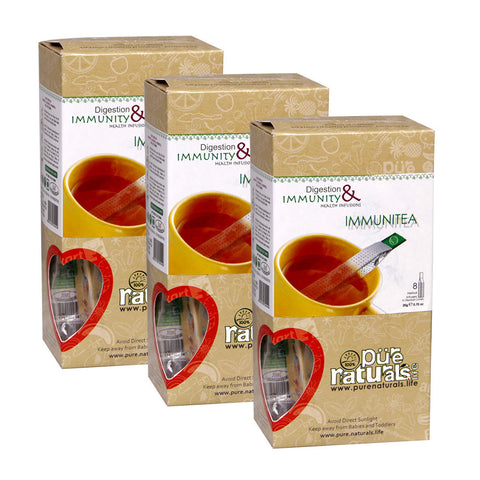 Pure Naturals Infusion Immunitea 8 Tea Stick Set Of 3