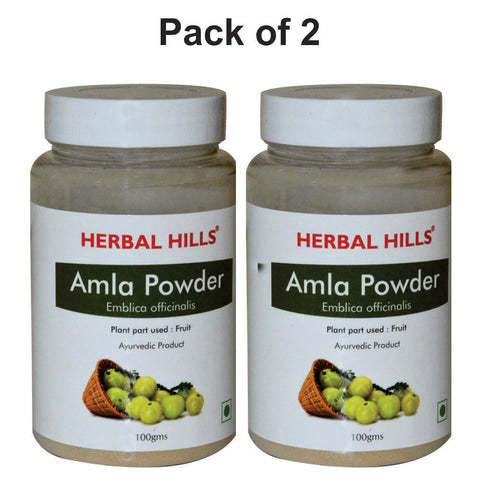 Herbal Hills Amla Powder 100Gm Pack of 2
