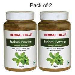 Herbal Hills Brahmi Powder 100Gms Pack of 2
