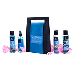 Natural Bath and Body Set Blue