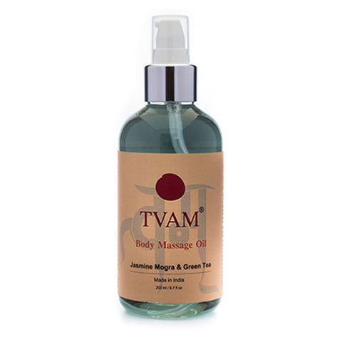 TVAM Massage Oil Jasmine Mogra Green Tea 190mL