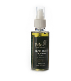 Rustic Art Neem Basil Organic Face Wash - 100 ml