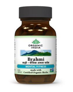 Organic India Brahmi 60 Capsules Bottle