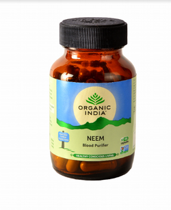 Organic India Neem 60 Capsules Bottle