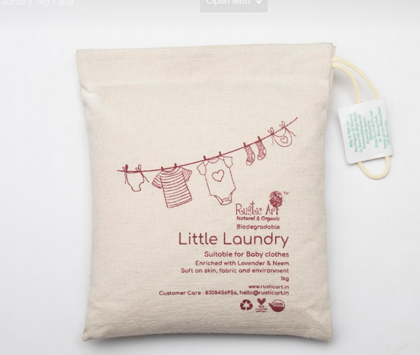 Rustic Art Bio-laundry detergent for Baby Clothes & delicate fabrics(little laundry) 1kg