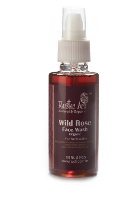 Rustic Art Rose Organic Wild Rose Face Wash - 100 ml