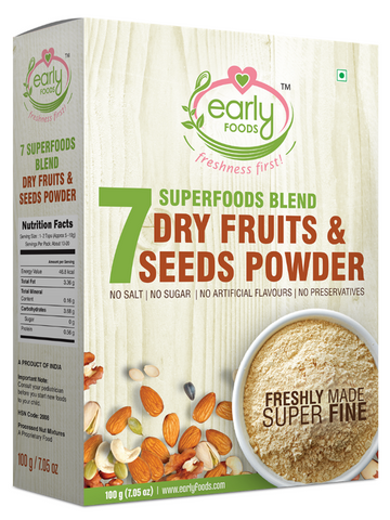 Early Foods  Dry Fruit & Seeds Powder for Kids - Blend of 7 Indian Super Foods 100g