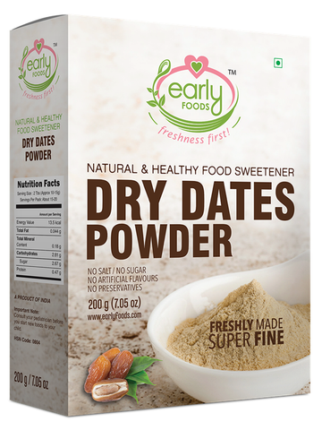 Early Foods Dry Dates Powder Natural Sweetener 200g
