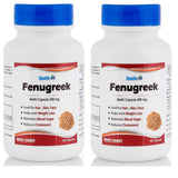 Healthvit Fenugreek Powder 500mg 60 Capsules  (Pack Of 2) For Diabetic Care