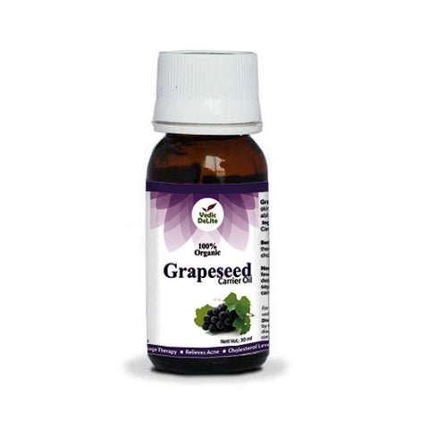 Vedic Delite Grapeseed Organic Carrier Oil 30mL