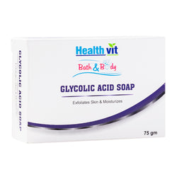 Healthvit Bath & Body Glycolic Acid Soap 75g