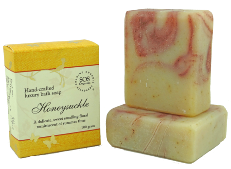 SOS Organics Handmade soap Honeysuckle