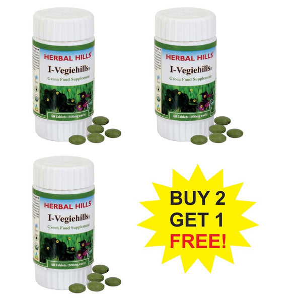 Herbal Hills I Vegiehills 60 Tablets  Buy 2 Get 1 FREE