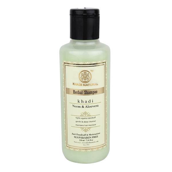 Khadi - Neem & Aloevera herbal shampoo - SLS & Paraben Free (for preventing dandruff)