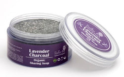 Rustic Art Lavender Charcoal Shaving Soap 50g