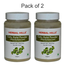 Herbal Hills Gotu Kola ( Mandukparnee) Powder 100Gms Pack of 2
